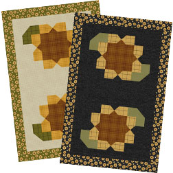A Wooly Sunflower Table Runner