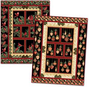 Festive Cardinals & Ornaments